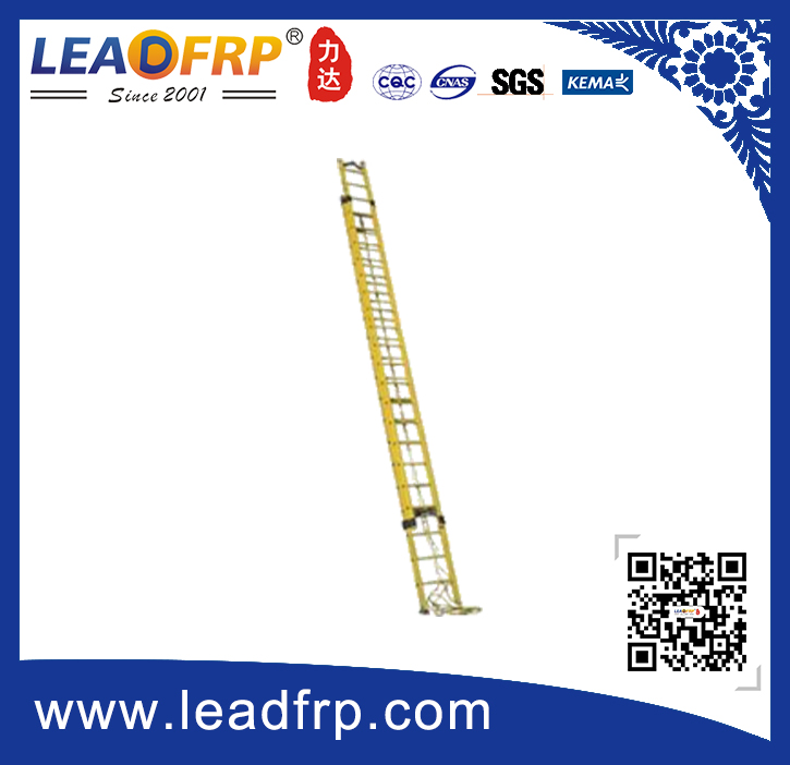 frp wall supported extension ladder
