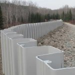 sheet piling and round pile